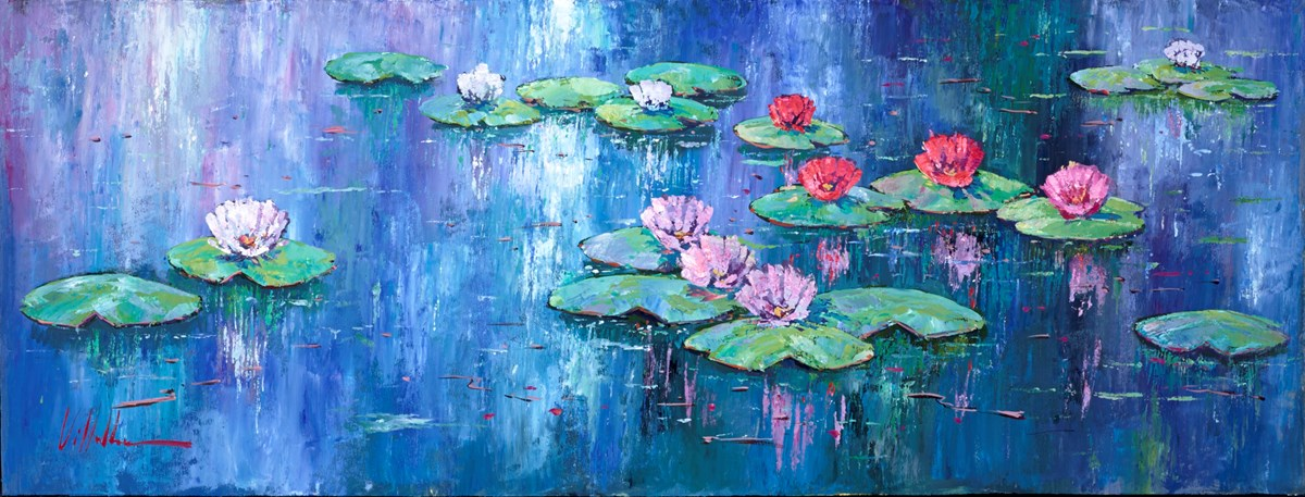 Flores de Lirio II by villalba -  sized 51x20 inches. Available from Whitewall Galleries